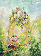 Jerusalem Painting Posters - Ring and Rose Poster by Michoel Muchnik