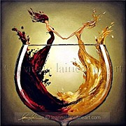 Wine Rack Paintings - Ring Around the Rose Wine Art Painting by Leanne Laine