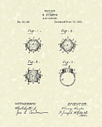Setting Drawings Prints - Ring Setting 1885 Patent Art Print by Prior Art Design