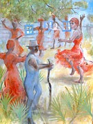 Gullah Paintings - Ring Shout by Gertrude Palmer