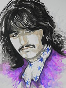 Rock And Roll Art Painting Originals - Ringo Starr. 01 by Chrisann Ellis