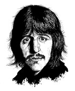 Ringo Drawings - Ringo Starr by Kenneth Stock