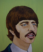 Beatles Songs Prints - Ringo Starr Print by Linda Kassabian
