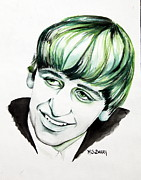 Fab Four Framed Prints - Ringo Starr Framed Print by Maria Barry