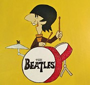 Ringo Starr Paintings - Ringo Starr of The Beatles by Donna Wilson