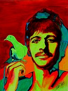  Hippie Painting Prints - Ringo Starr Print by Shirl Theis