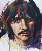 Guitarists Painting Originals - Ringo by Tachi Pintor