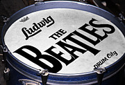 Fab Four Prints - Ringos Drum Print by Ron Regalado
