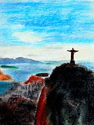 Print On Canvas Pastels Posters - Rio Poster by Brian Mcglenn