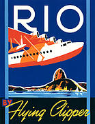 And Posters Digital Art Prints - Rio by Flying Clipper Print by Brian James