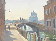 River Walk Paintings - Rio de San Vio by Julian Barrow