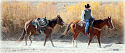 Rio Grande Cowboy Print by Barbara Chichester