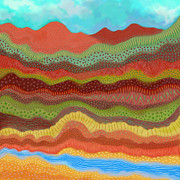 Grande Paintings - Rio Grande Gorge by Darlene Seale
