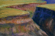Grande Paintings - Rio Grande Gorge by Holly Douglas
