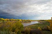 Sandias Framed Prints - Rio Grande in New Mexico Framed Print by Mary Lee Dereske