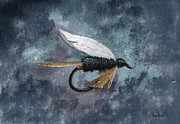 Fishing Flies Paintings - Rio Grande King by Sean Seal