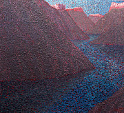 Grande Paintings - Rio Grande Nocturne by Dave Barnett