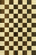 Large Format Digital Art Posters - Rio Rosewood and Sycamore Chequered Pattern Poster by Hakon Soreide