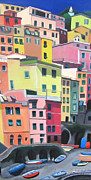 Riomaggiore Paintings - Riomaggiore 2 by Lisa Darlington