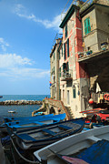 North Italian Town Framed Prints - Riomaggiore - Cinque Terre Framed Print by Matteo Colombo