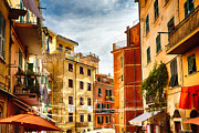 House On The Hill Prints - Riomaggiore Impression II Print by George Oze