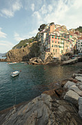 North Italian Town Framed Prints - Riomaggiore in the Cinque Terre Framed Print by Matteo Colombo