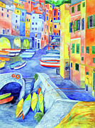 Riomaggiore Paintings - Riomaggiore by Kandy Cross