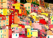 Riomaggiore Paintings - Riomaggiore by Lisa Darlington