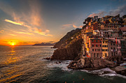 Riomaggiore Rolling Waves Print by Mike Reid