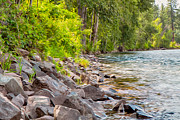 Twisp Photo Prints - Rip Rap on the Methow River Print by Omaste Witkowski