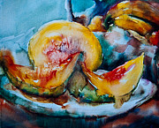 Cantaloupe Painting Prints - Ripe and Juicy Print by Jani Freimann