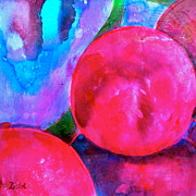 Blue Grapes Mixed Media Prints - Ripe Print by Debi Pople