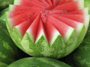 Low-calorie Framed Prints - Ripe Watermelon Framed Print by Ann Horn