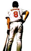 Baseball Art Drawings Acrylic Prints - RIPKEN   Cal Ripken Jr Acrylic Print by Iconic Images Art Gallery David Pucciarelli