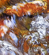 Clear Flowing Stream Prints - Ripples In The Stream Print by Terril Heilman