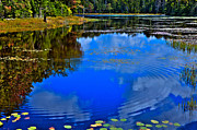 Fir Trees Photos - Ripples on Fly Pond - Old Forge New York by David Patterson