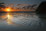 Ebb Art - Ripples on the Beach by Mike  Dawson