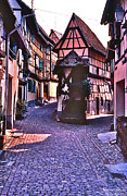 Riesling Framed Prints - Riquewihr Framed Print by David Davies