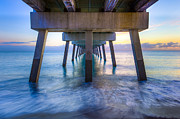 Florida Bridges Prints - Rise Print by Debra and Dave Vanderlaan