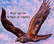 God Paintings - Rise Up on Wings of Eagles by Eloise Schneider