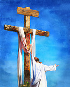 Jesus Crucifix Digital Art - Risen by Francesa Miller