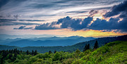 Cowee Mountain Overlook Prints - Rising and Setting Print by Joye Ardyn Durham
