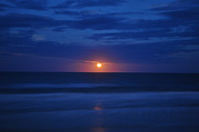 Sea Moon Full Moon Photo Posters - Rising from Sea to Clouds Poster by Tommy and Pamela Allen