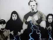 Metallica Paintings - Rising Metallic Storm by Christian Chapman Art
