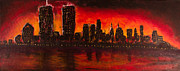 Coqle Aragrev Metal Prints - Rising Sun at NYC Metal Print by Coqle Aragrev