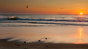 Atlantic Beaches Prints - Rising Sun Print by Bill  Wakeley