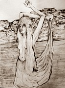 Siren Drawings - Rising Tide by Joseph Wetzel