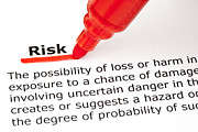 Insurance Plan Posters - Risk underlined with red marker Poster by Ivelin Radkov