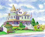 Reese Framed Prints - Risley House of Stone Harbor Framed Print by Brenda Dolhanczyk