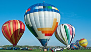 Hot Air Balloon Race Framed Prints - Risng Up Framed Print by Jim Chamberlain